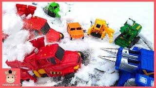 헬로 카봇 장난감 하이퍼빌디언 6단 합체 변신 공사장 장난감 놀이 ♡ 자동차 로봇장난감 Carbot Toys Fun Play for Kids | 말이야와아이들 MariAndKids