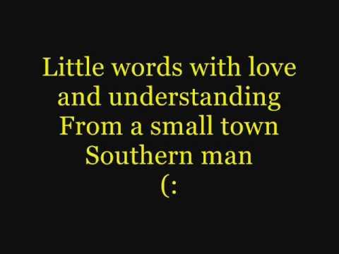 Alan Jackson- Small Town Southern Man (Lyrics)