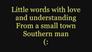 Alan Jackson- Small Town Southern Man (Lyrics)