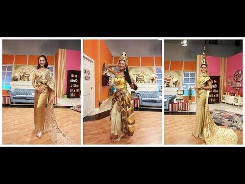 3 ตัวแทนสาวไทยโชว์ชุดประจำชาติไทยที่จะใช้ในการประกวดระดับโลก