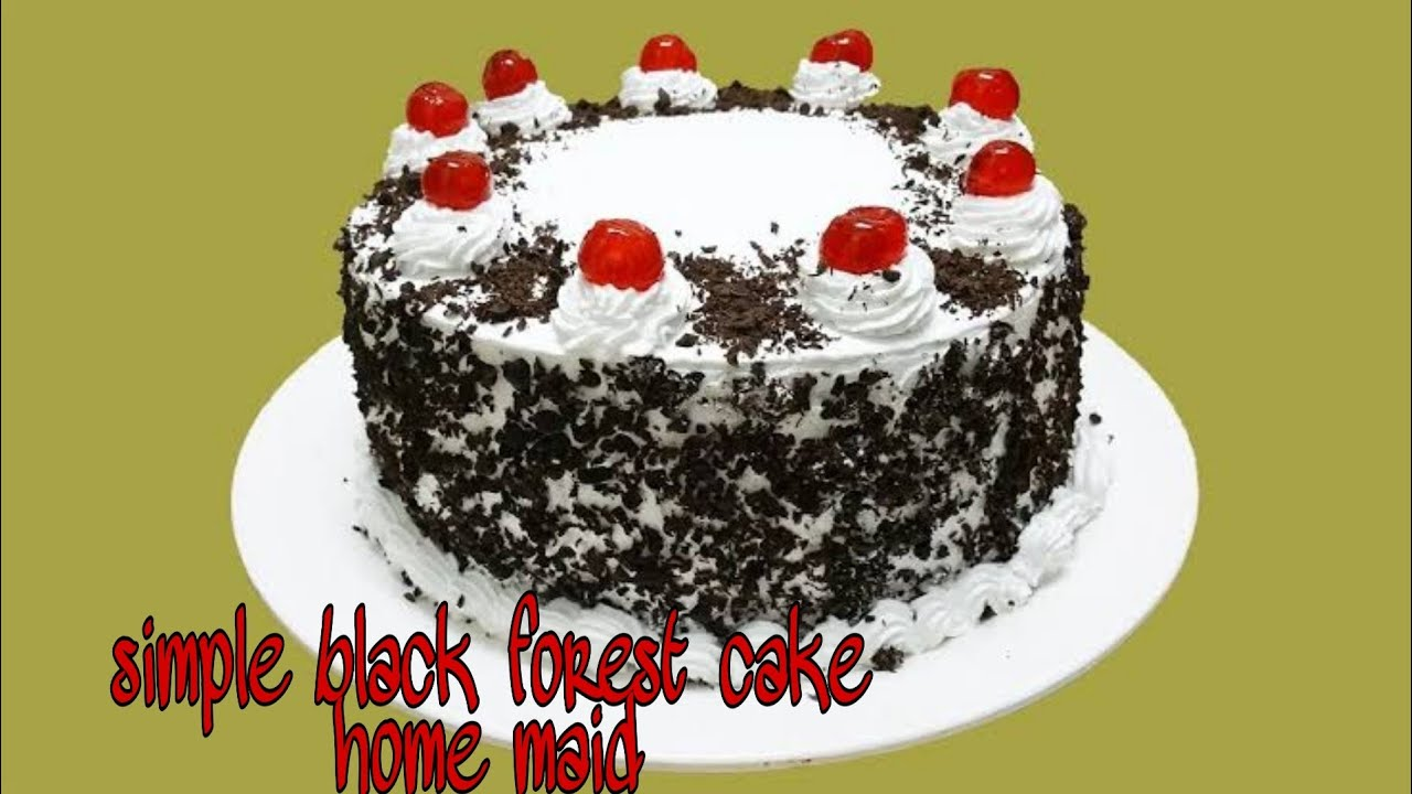 simple black forest cake in malayalam without oven/ - YouTube