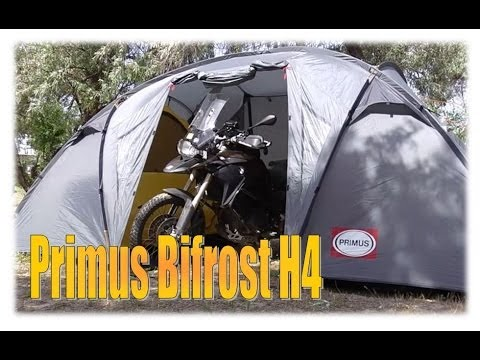 & Motorcycle Tent - Primus Bifrost H4 - YouTube
