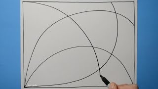 Spiral Drawing #181 / Aesthetically Pleasing Curved Pattern / 3D Line Illusion / Daily Art Therapy