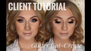CLIENT TUTORIAL:  Glitter Cut Crease   ELIZAMADELINEMAKEUP