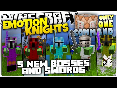 Minecraft | EMOTION KNIGHTS | 5 New Bosses & OP Swords | Only One Command (Minecraft Custom Command)