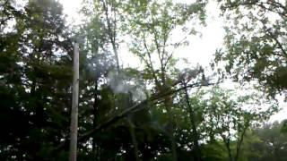 Lightning stgrike smoking tgree