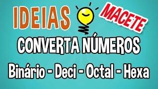 Tabela para conversão de números hexadecimais, decimais, octais e binário thumbnail