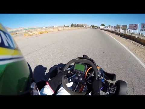 Shifter kart racing Willow Springs Raceway using a GoPro Hero 3+ camera.