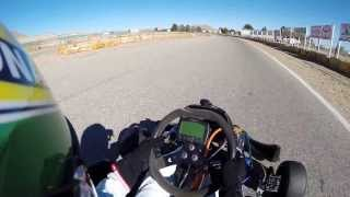 Shifter kart racing Willow Springs Raceway using a GoPro Hero 3+ camera.