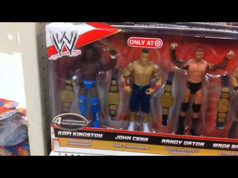 "WWE ACTION INSIDER: Target wrestling aisle figures elite mattel store ""grims toy show"" figures"