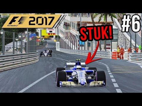 DRS GAAT STUK MIDDEN IN RACE! - F1 2017 Career Mode #6 (Grand Prix: Monaco)