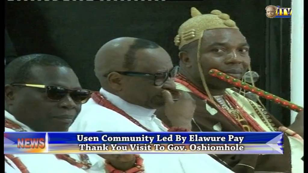 Download Elawure of Usen pays thank you visit to Gov. Oshiomhole
