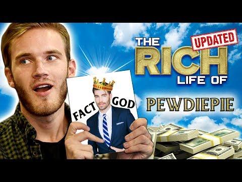 PewDiePie  The Rich Life  Felix Kjellberg Net Worth 2019  Money Made  Spent