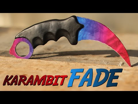 How to Make a Fade Skin Karambit (CS GO Knife)