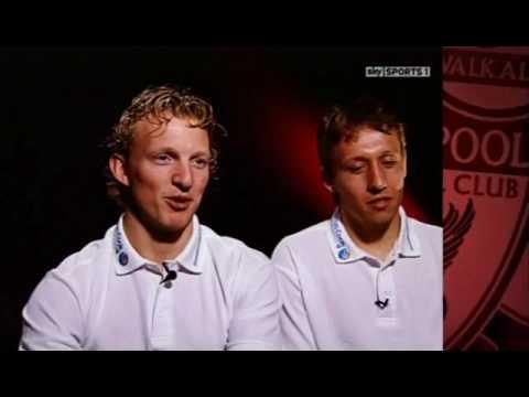 Soccer AM Team mates:Dirk Kuyt and Lucas Leiva