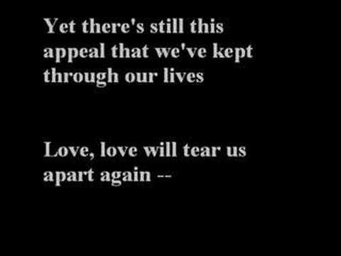 Joy division love will tear lyrics