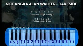 Gambar cover Not Pianika Alan Walker - Darkside