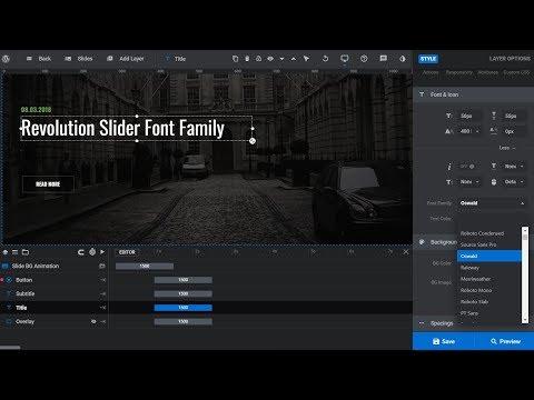 How To Change Font Family In Revolution Slider 6 WordPress Plugin? thumbnail
