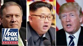 President Trump praises meeting between Kim Jong Un, Pompeo