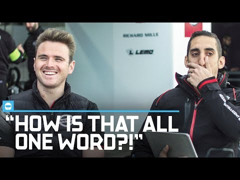 German Pronunciation Challenge | Nissan's Sebastien Buemi And Oliver Rowland Try To Speak German