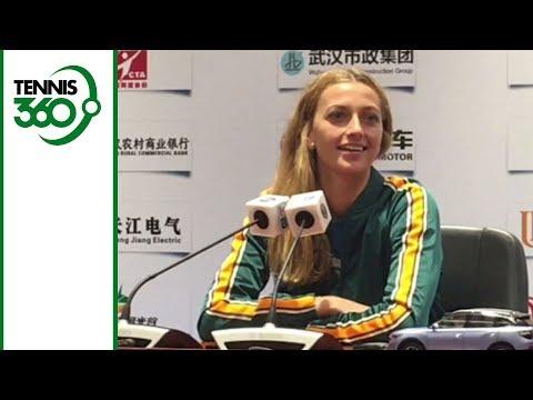Petra Kvitova, Daria Kasatkina joke around with the press in Wuhan
