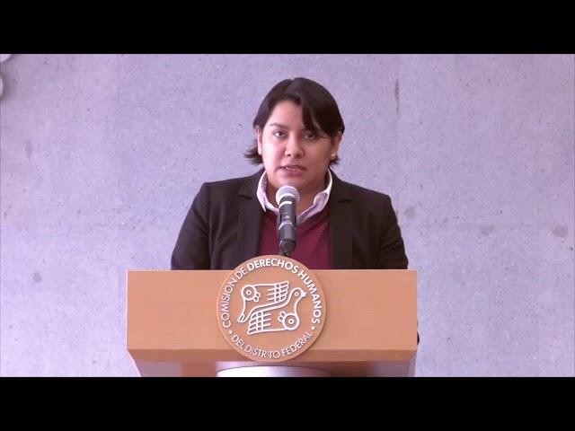 Discurso de la Dra. Perla Gómez en la presentación de las Recomendaciones 6/2017 y 7/2017