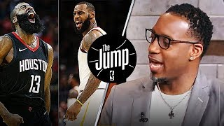 Tracy McGrady On MVP Race Between James Harden & LeBron James | The Jump