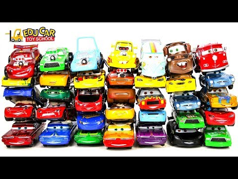 Thumbnail: Learning Color Special Disney Pixar Cars Lightning McQueen Mack Truck Shooting for kids car toys