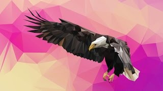 Low Poly Eagle Illustration