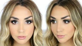GRWM OLIVE GREEN SMOKEY EYE | TESTING OUT NEW PRODUCTS!