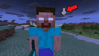 Herobrine Spawns In This Seed In Minecraft Pocket Edition (Do Not Play This Seed In MCPE)