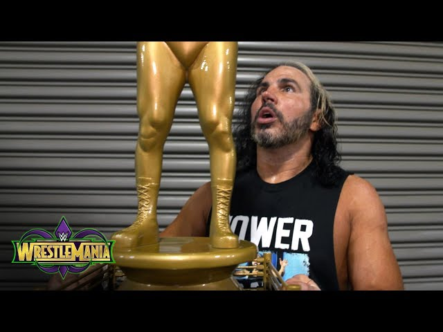Matt Hardy thanks Andre the Giant's statue for his big night: Exclusive, April 8, 2018
