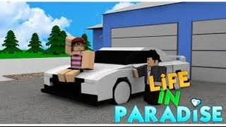 Driving a Tron hyper bike Underwater-Life in paradise-Roblox