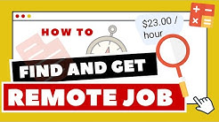 How To Find & Get a Remote Job - With No Experience and Up To $27/hour