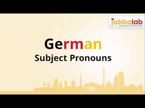 German Grammar - Subject Pronouns - Lesson 1 - Jabbalab