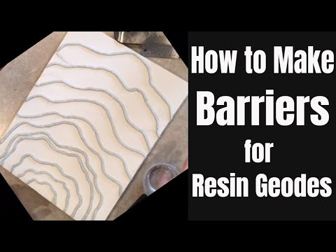 5. How to Make Barriers & Boundaries for a Resin Geode