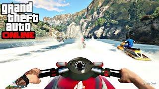 gta v online   carro vlog vida real   rol de jet ski muito show com a galera toda   ep 89