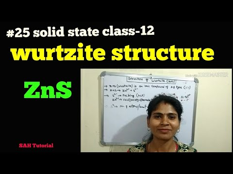#25 solid state class-12 (structure of wurtzite ZnS)