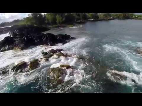 Quadcopter Flying, The Big Island, Hawaii