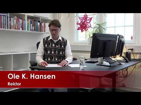 Rektor Julehilsen 18.12.2020