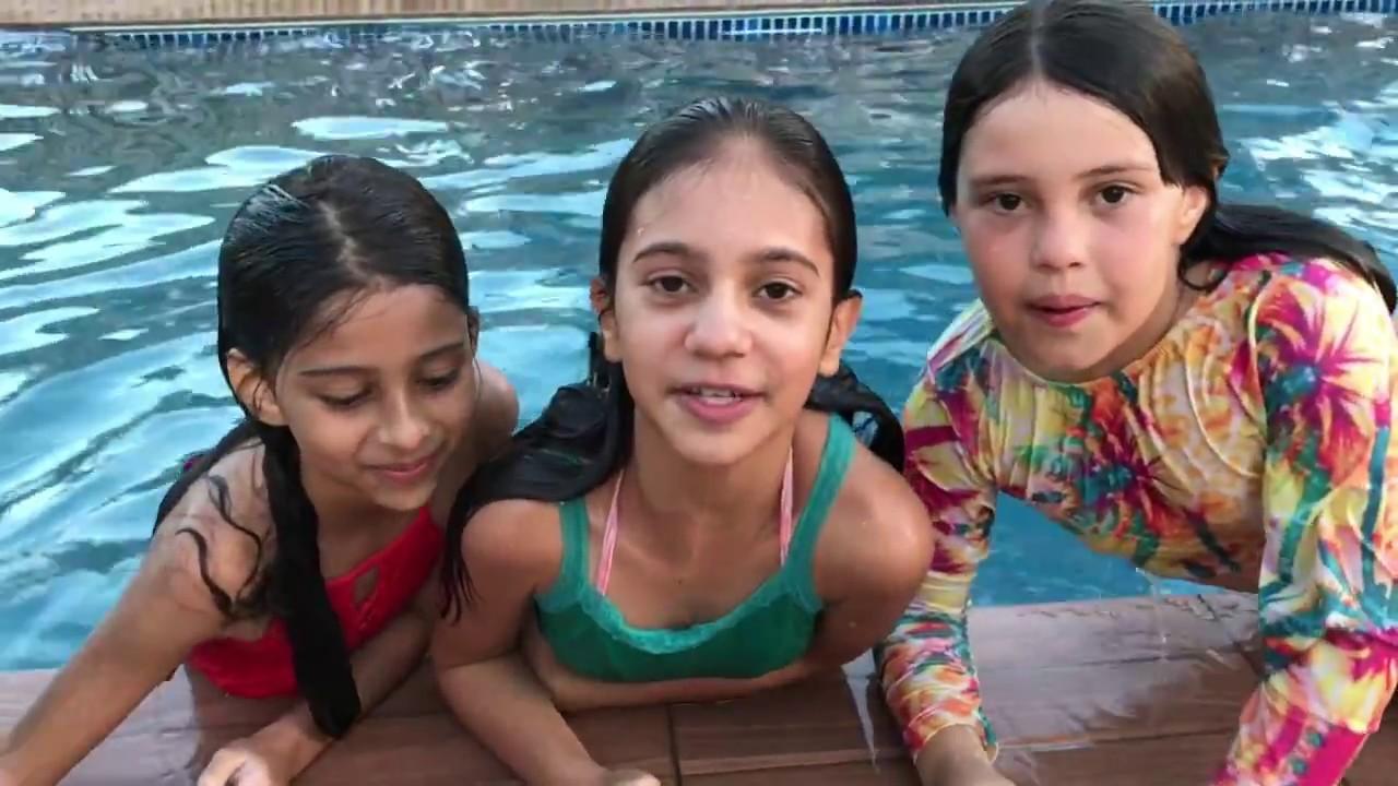 VLOG NA FAZENDA | DESAFIO FALE QUALQUER COISA NA PISCINA - Na mala da Mila