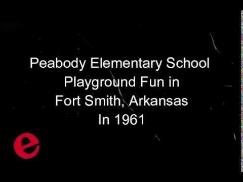 Peabody School Playground Fun 1961. Fort Smith, Arkansas