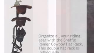 Snaffle Reiner Cowboy Hat Rack - lonestarwesterndecor.com