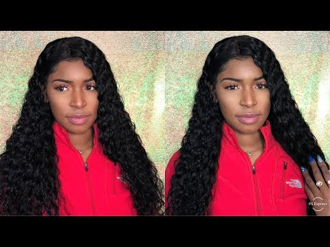 Premium Lace Wig Update  The Best Affordable 13x6 Curly Water Wave Lace Front Wig Install