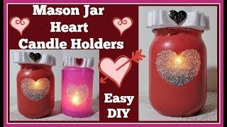 Mason Jar Heart💖 Candle Holder DIY💖