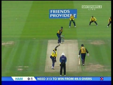 Cricket Ottis Gibson's 0-2 v Hampshire