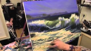 Морской пейзаж, уроки рисования в Москве, научиться рисовать море, Сахаров, живопись маслом