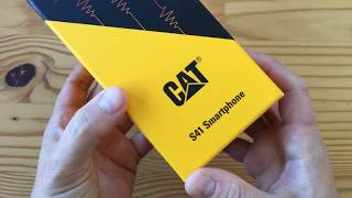 CAT S41 rugged smartphone unboxing (live)