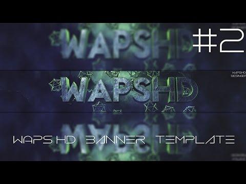 Youtube Banner Template 3D #2 ( Cinema4D , PhotoShop CS6 ) - YouTube
