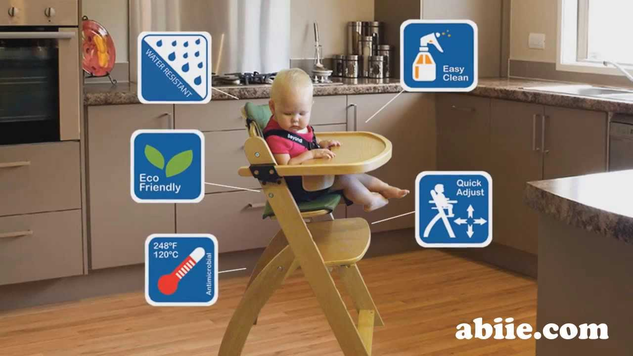 Abiie Beyond Junior Wooden High Chair Y Chair